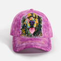 Russo Golden Retriever Purple Baseball Cap
