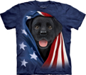 Patriotic Black Lab Pup